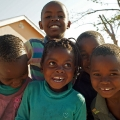 Kinder in Khwai
