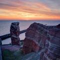 Helgoland, Lange Anna im Sonnenuntergang