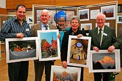 Preisträger (v. l.) Andreas Stark, Winfried Diegelmann, Renate Klinkel (oben das Siegerfoto von Dr. Rudolf Dölling). Josef Weber