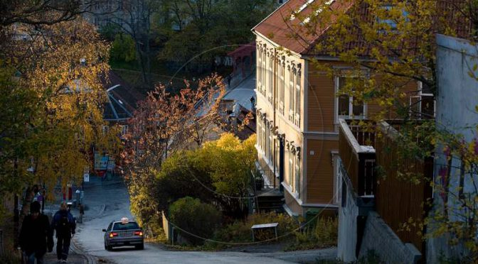 Rudolf Dölling: Trondheim bei Tag